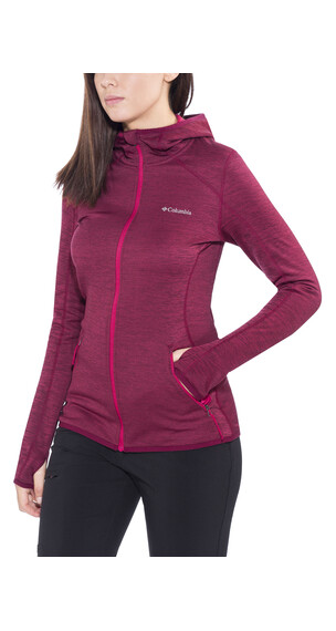 Columbia Sapphire Trail Hooded Fleece Jacket Women Red Orchid
